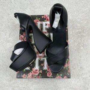 Jeffrey Campbell Stefanya Black Platforms Size 10